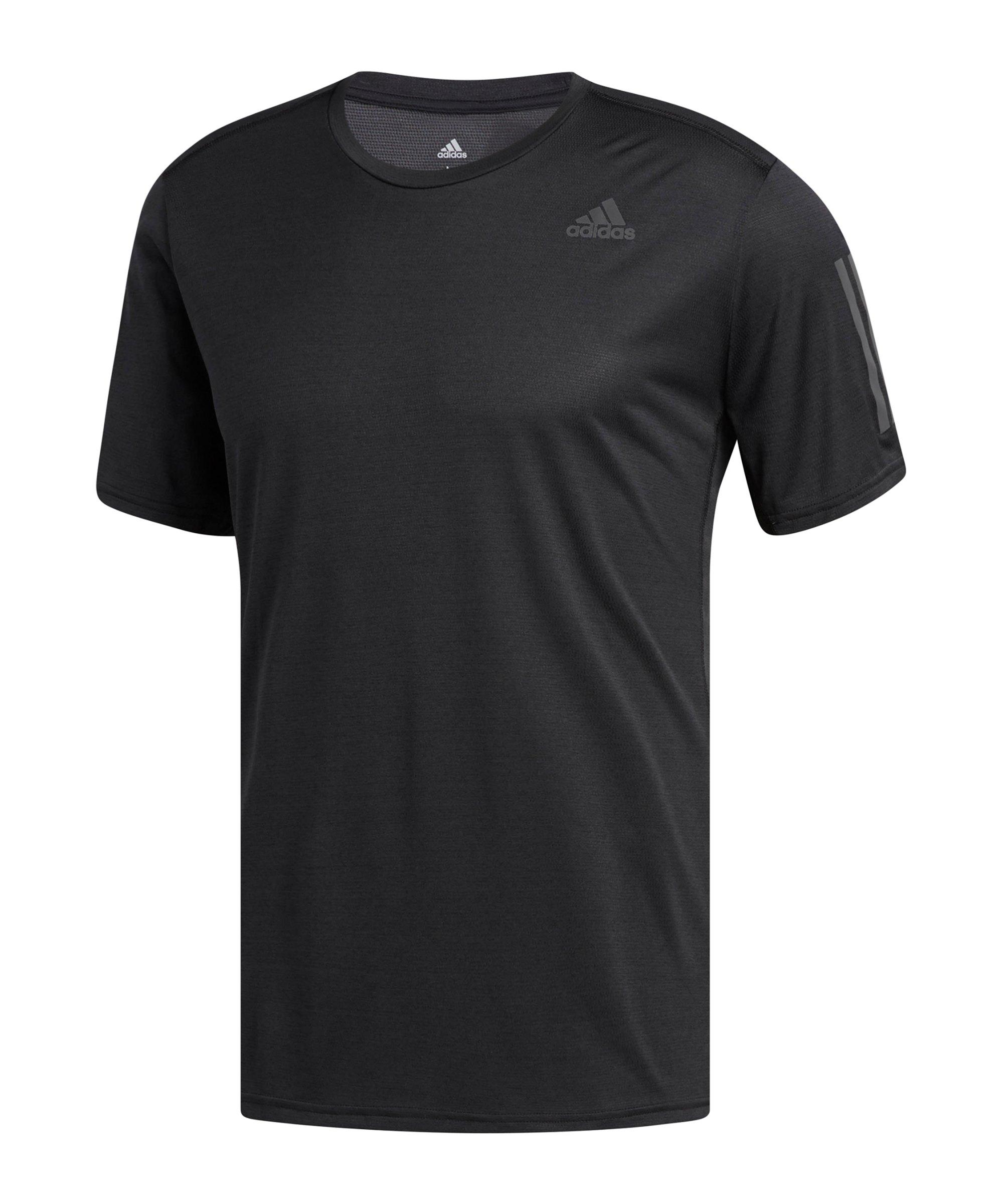 adidas Own The Run T-Shirt Running Schwarz - schwarz