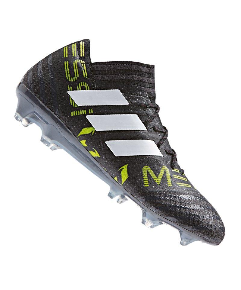 adidas FG NEMEZIZ Messi 17.1 Schwarz Weiss Gelb - schwarz