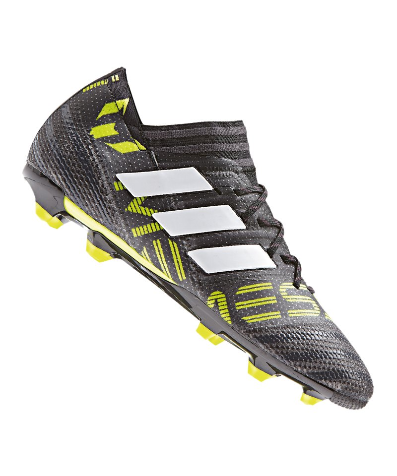 adidas FG NEMEZIZ Messi 17.1 J Kinder Schwarz Weiss Gelb - schwarz