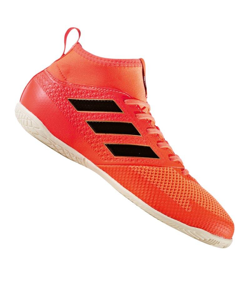adidas ACE Tango 17.3 IN Halle J Kids Rot Schwarz - rot