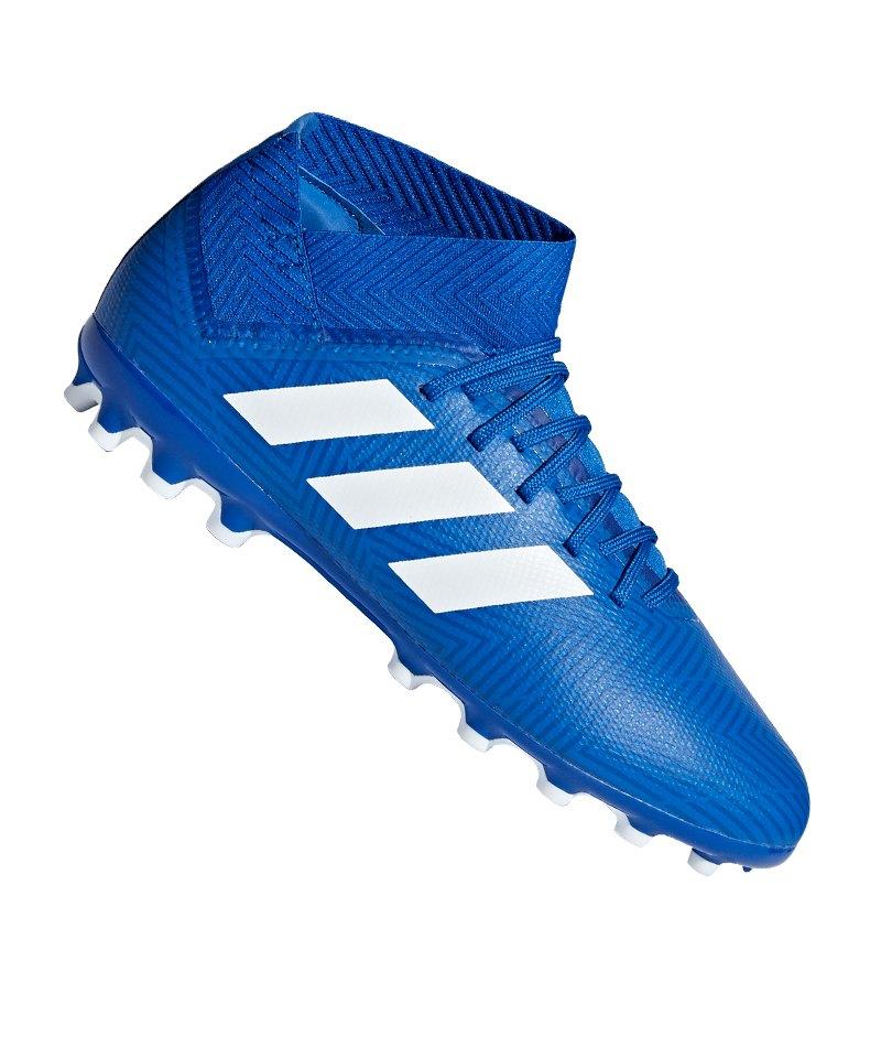 adidas NEMEZIZ 18.3 AG J Kids Blau Weiss - blau