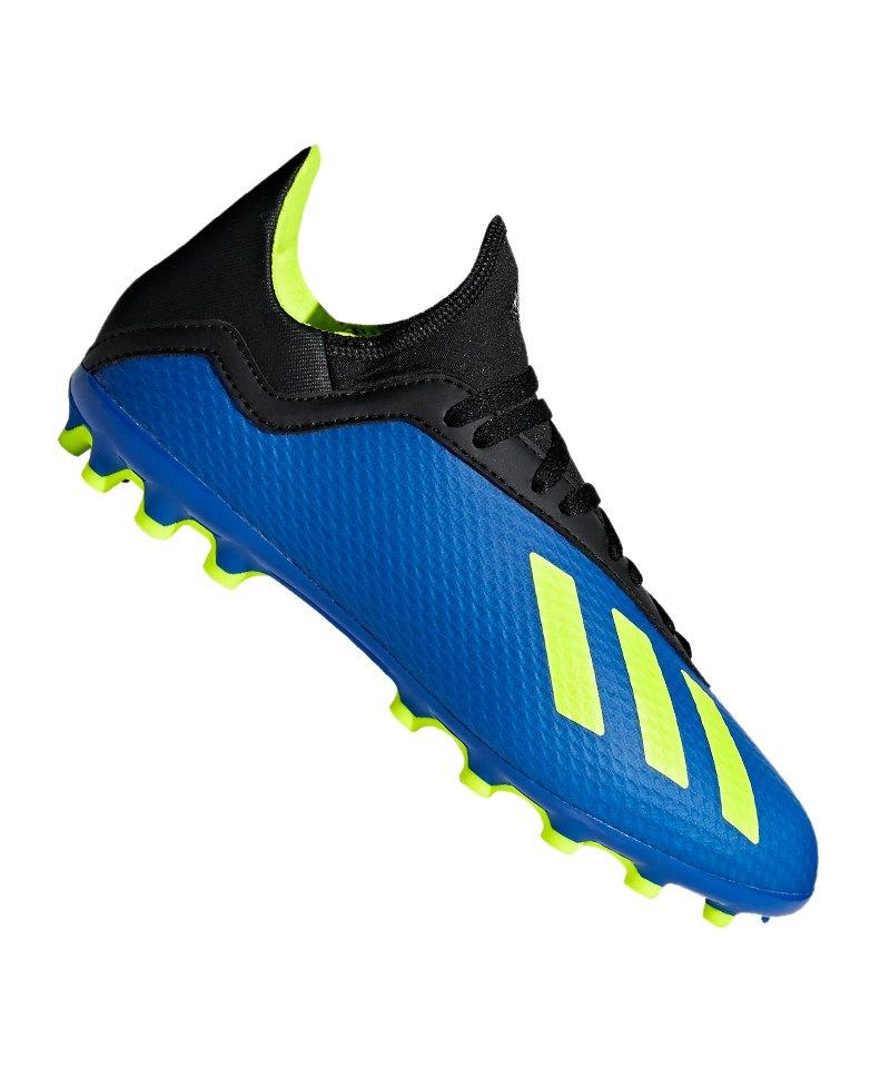 adidas X 18.3 AG J Kids Blau Gelb - blau