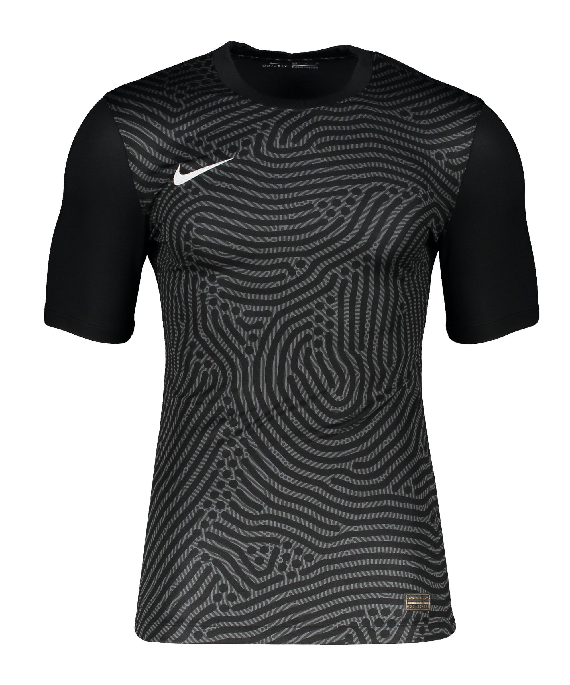 Nike Promo TW-Trikot kurzarm Schwarz Grau F021 - schwarz
