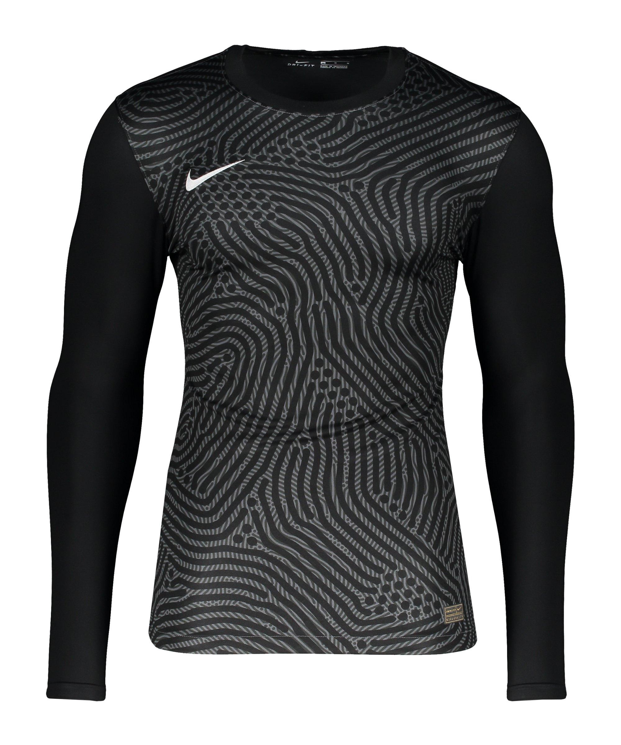 Nike Promo TW-Trikot langarm Schwarz Grau F021 - schwarz