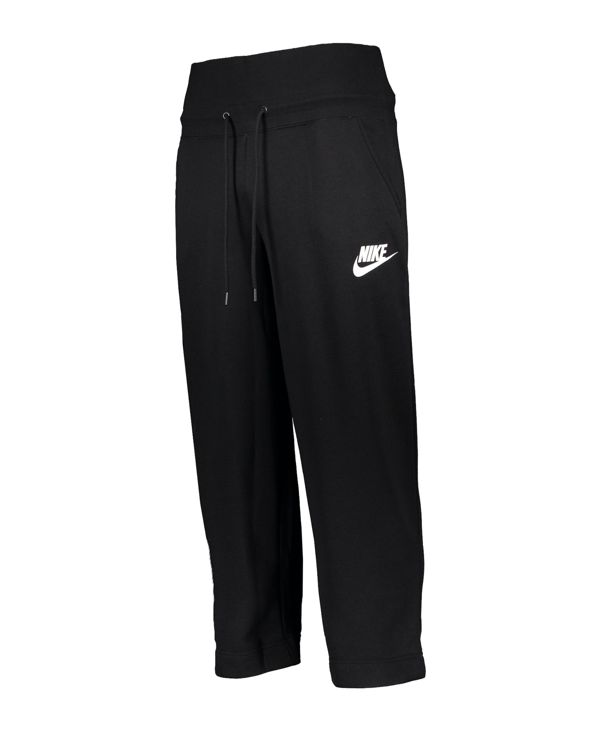 Nike Rally Jogginghose Damen Schwarz Weiss F010 - schwarz
