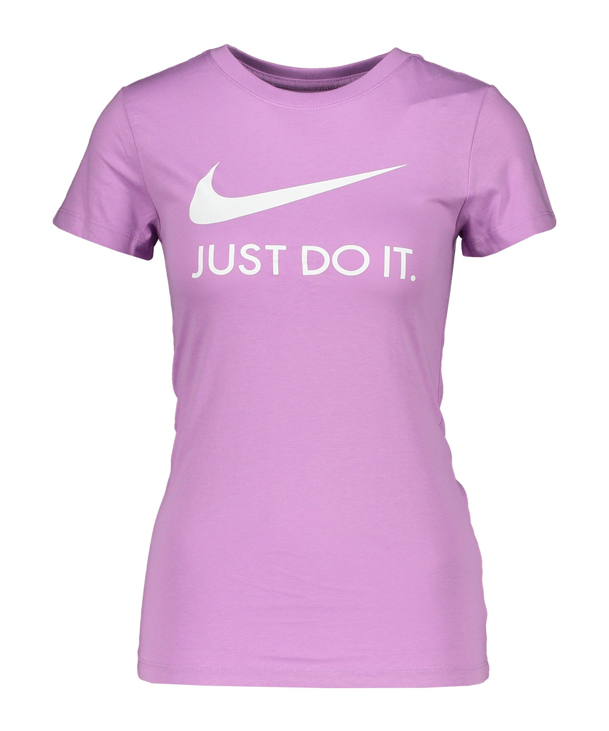 Nike JDI Print T-Shirt Damen Lila Weiss F591 - lila