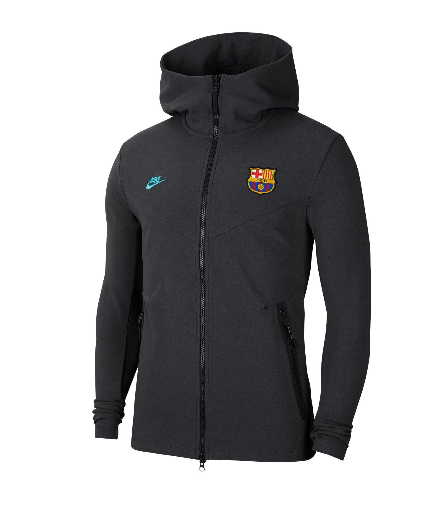Nike FC Barcelona Tech Full-Zip Kapuzenjacke F070 - grau