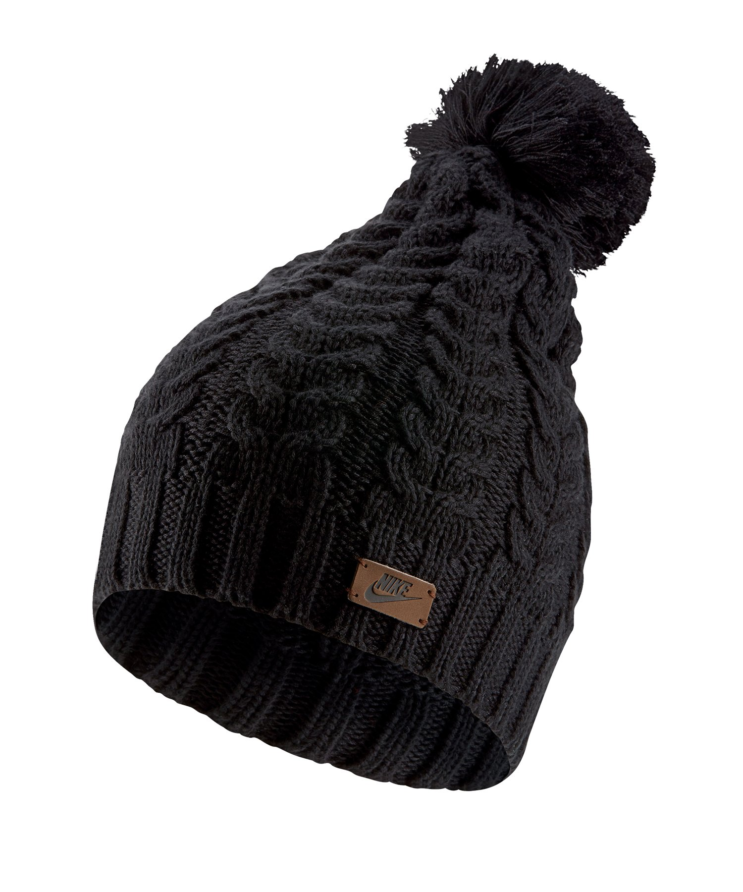Nike Knit Beanie Mütze Damen Schwarz F010 - schwarz