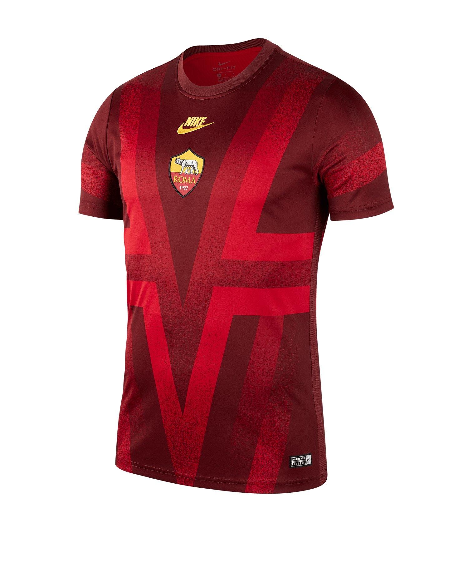 Nike AS Rom Dry Shirt kurzarm CL Rot F619 - rot