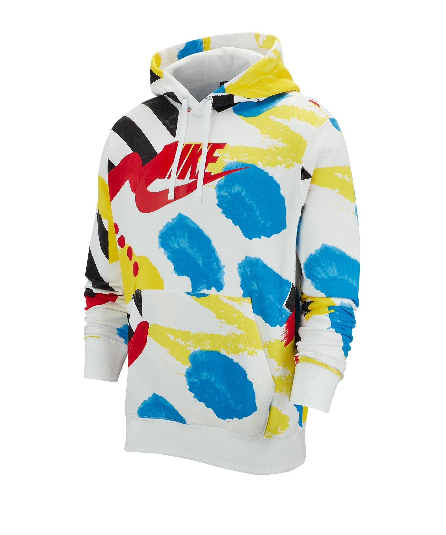 Nike Fleece Hoody Weiss F100 - weiss