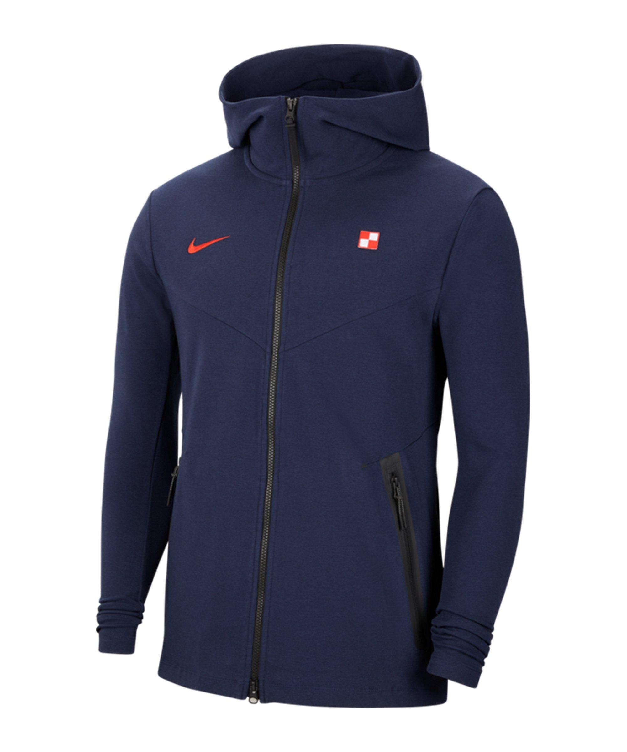 Nike Kroatien Tech Pack Kapuzenjacke Blau F451 - grau