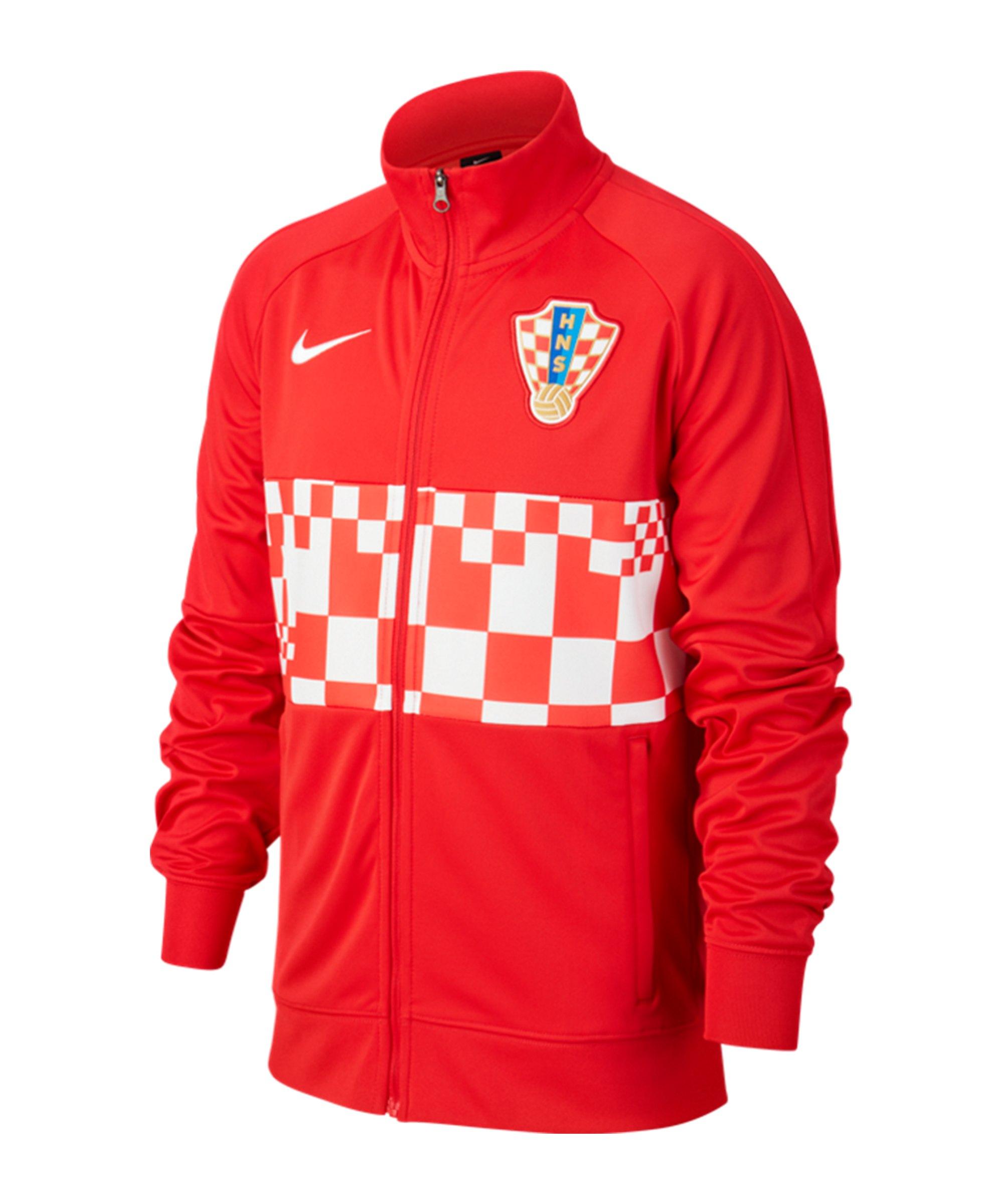 Nike Kroatien I96 Trainingsjacke Kids Rot F657 - rot