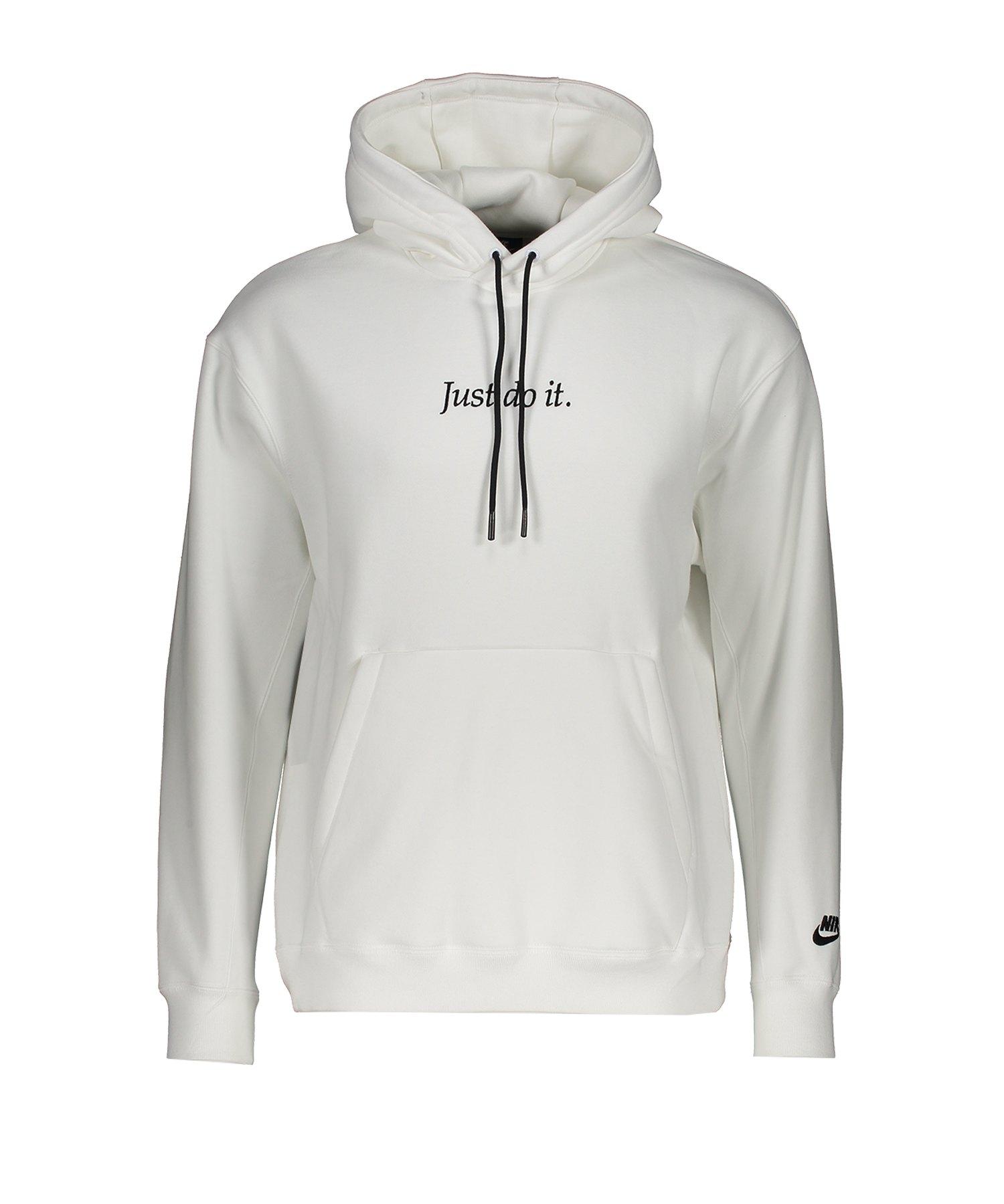 Nike JDI Fleece Kapuzenpullover Weiss F100 - weiss