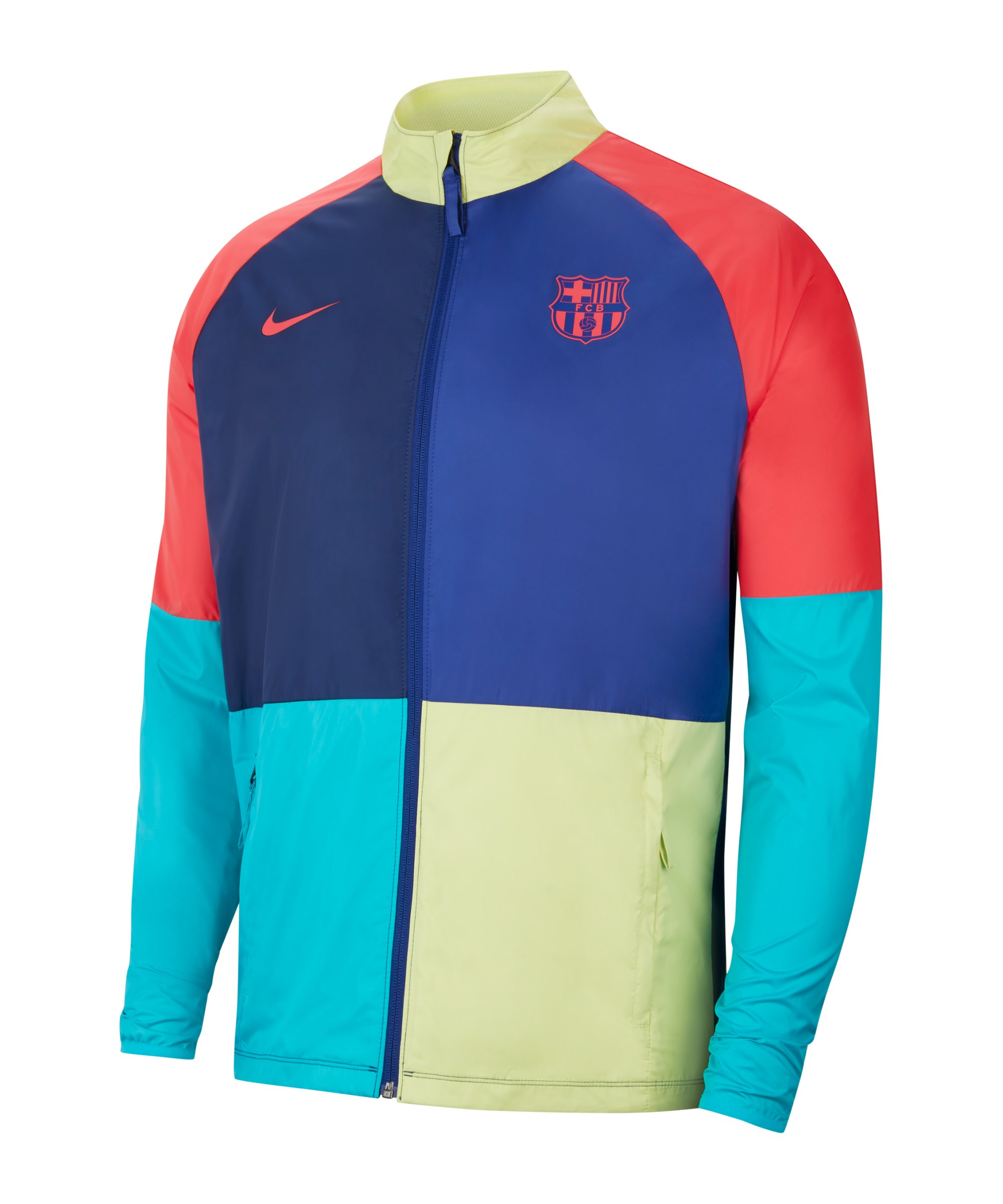 Nike FC Barcelona Academy Allwetterjacke Blau F457 - blau
