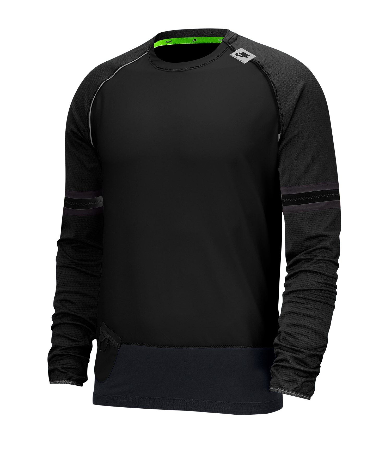Nike Long-Sleeve Top T-Shirt langarm Running F010 - schwarz