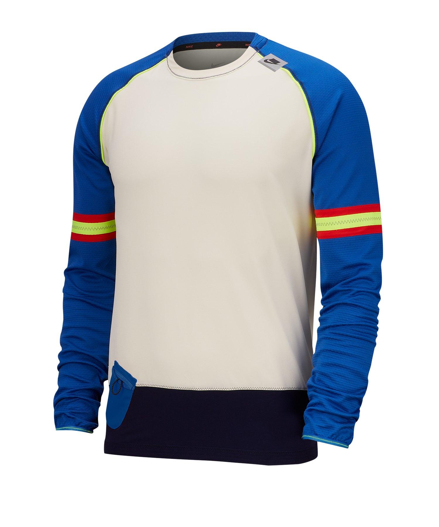 Nike Long-Sleeve Top T-Shirt langarm Running F110 - weiss