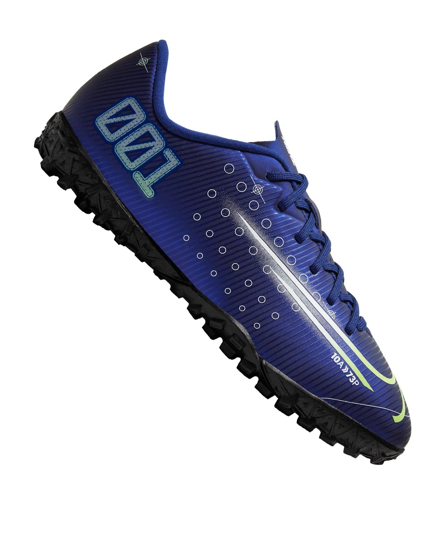 Nike Jr Mercurial Vapor XIII DS Academy TF Kids Blau F401 - blau
