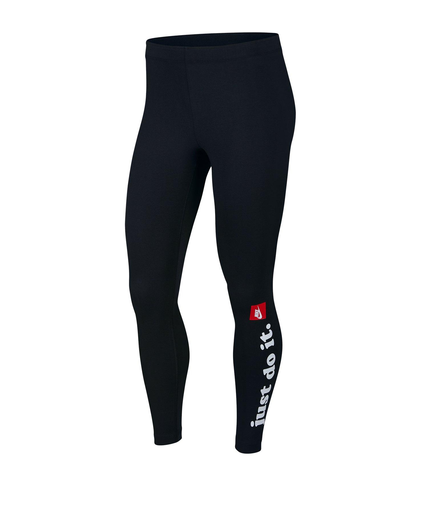 Nike Club Leggings Damen Schwarz F010 - schwarz