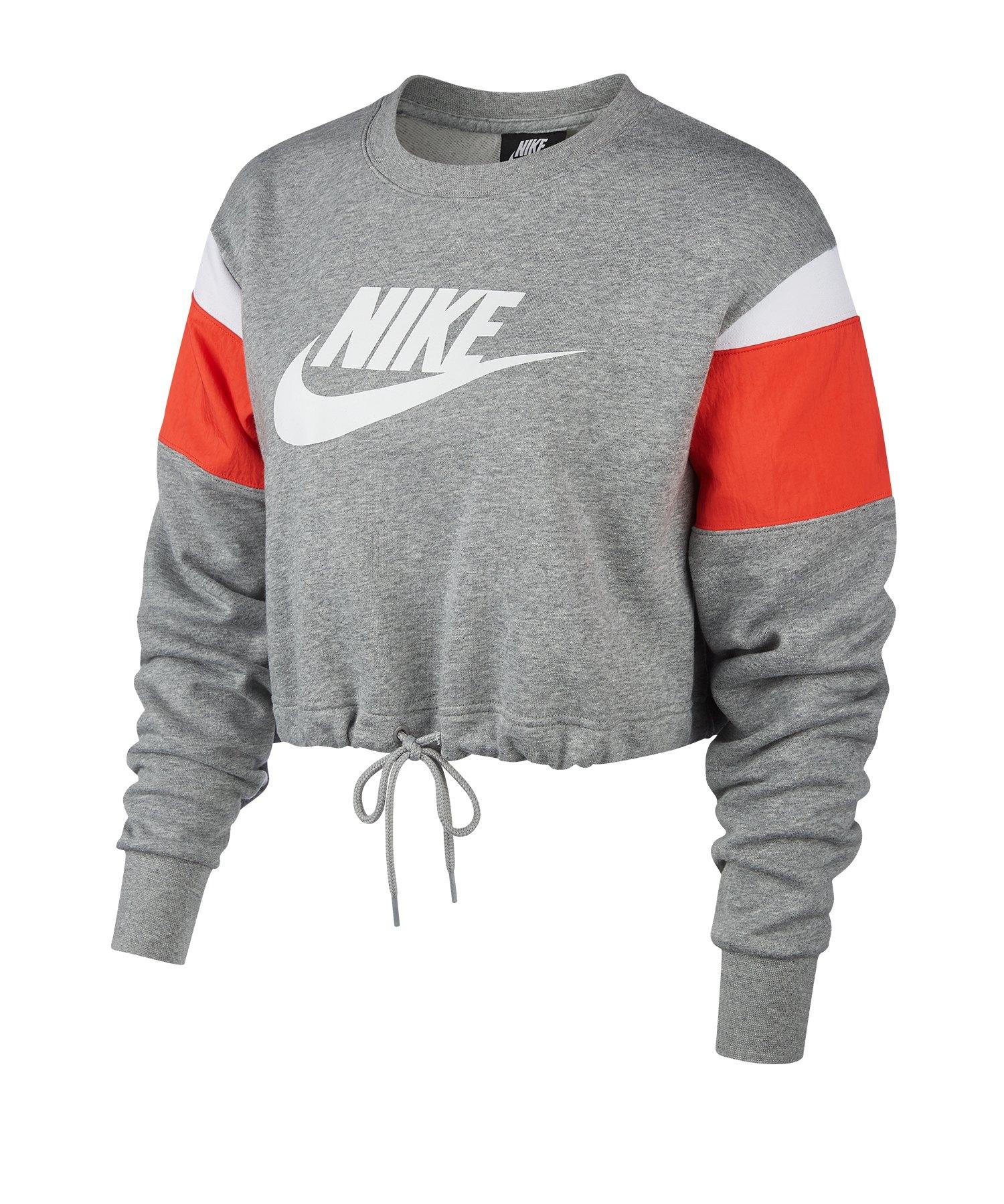 Nike Heritage Crew Fleece Sweatshirt Damen F063 - grau