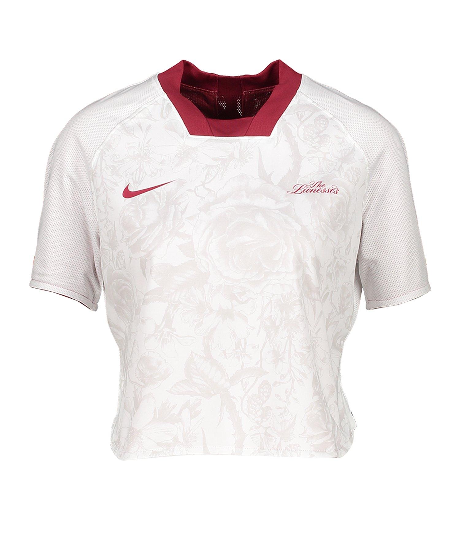 Nike England FTBL Crop Top Damen Rot F677 - rot