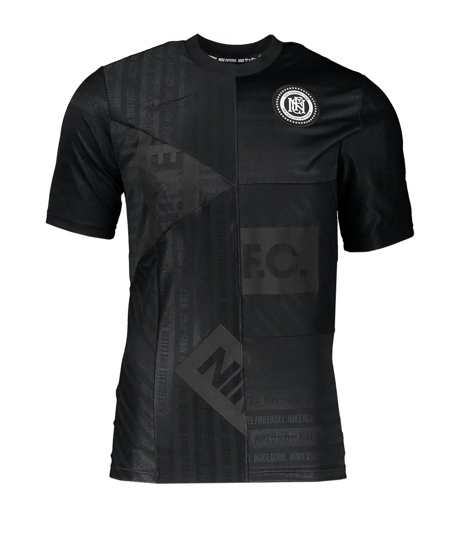 Nike F.C. Jersey Schwarz F010 - schwarz