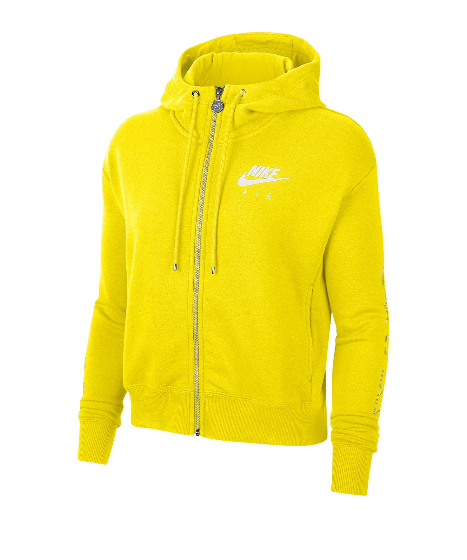 Nike Air Fleece Kapuzenjacke Damen Gelb F731 - gelb