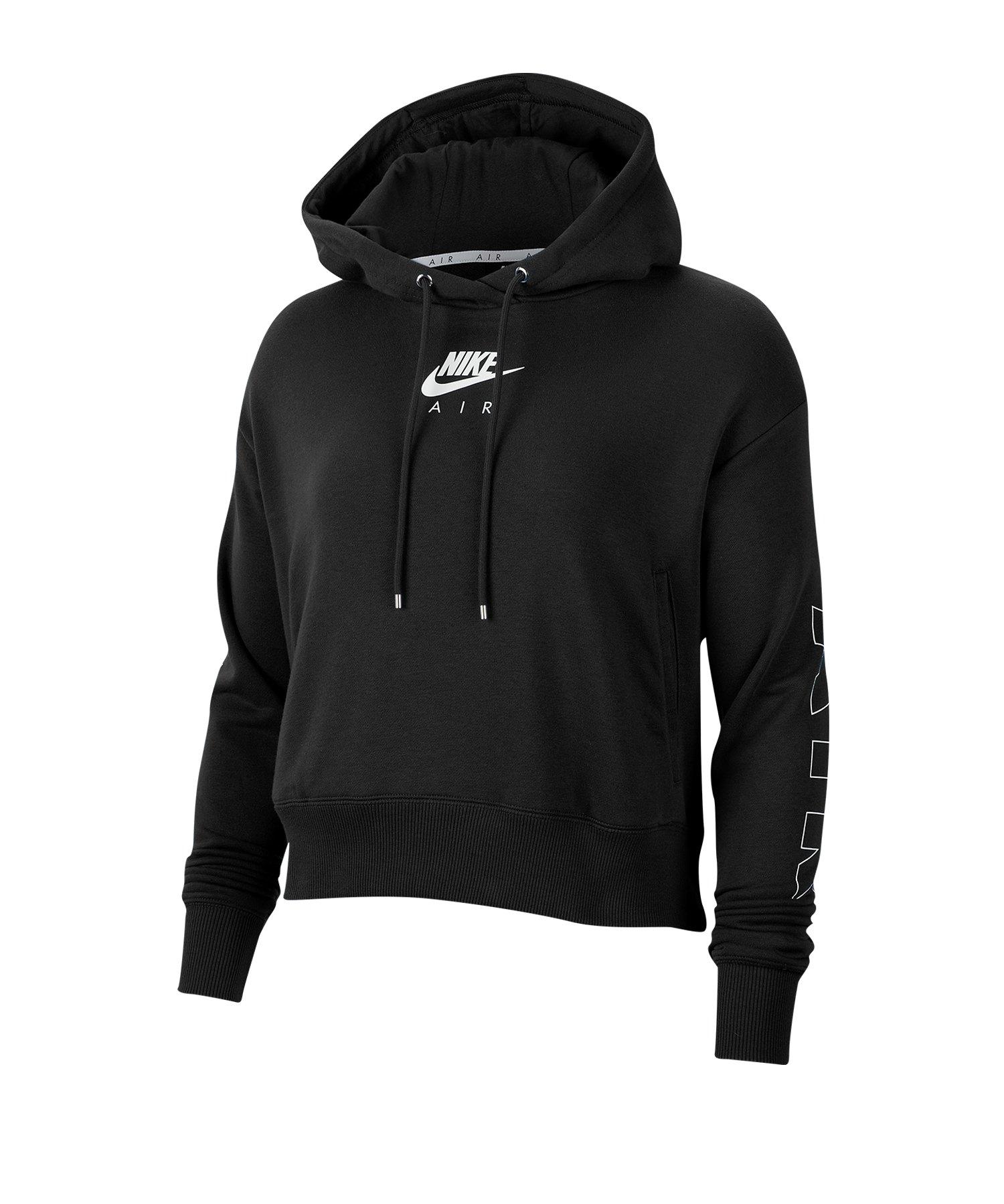 Nike Air Fleece Kapuzensweat Damen Schwarz F010 - schwarz