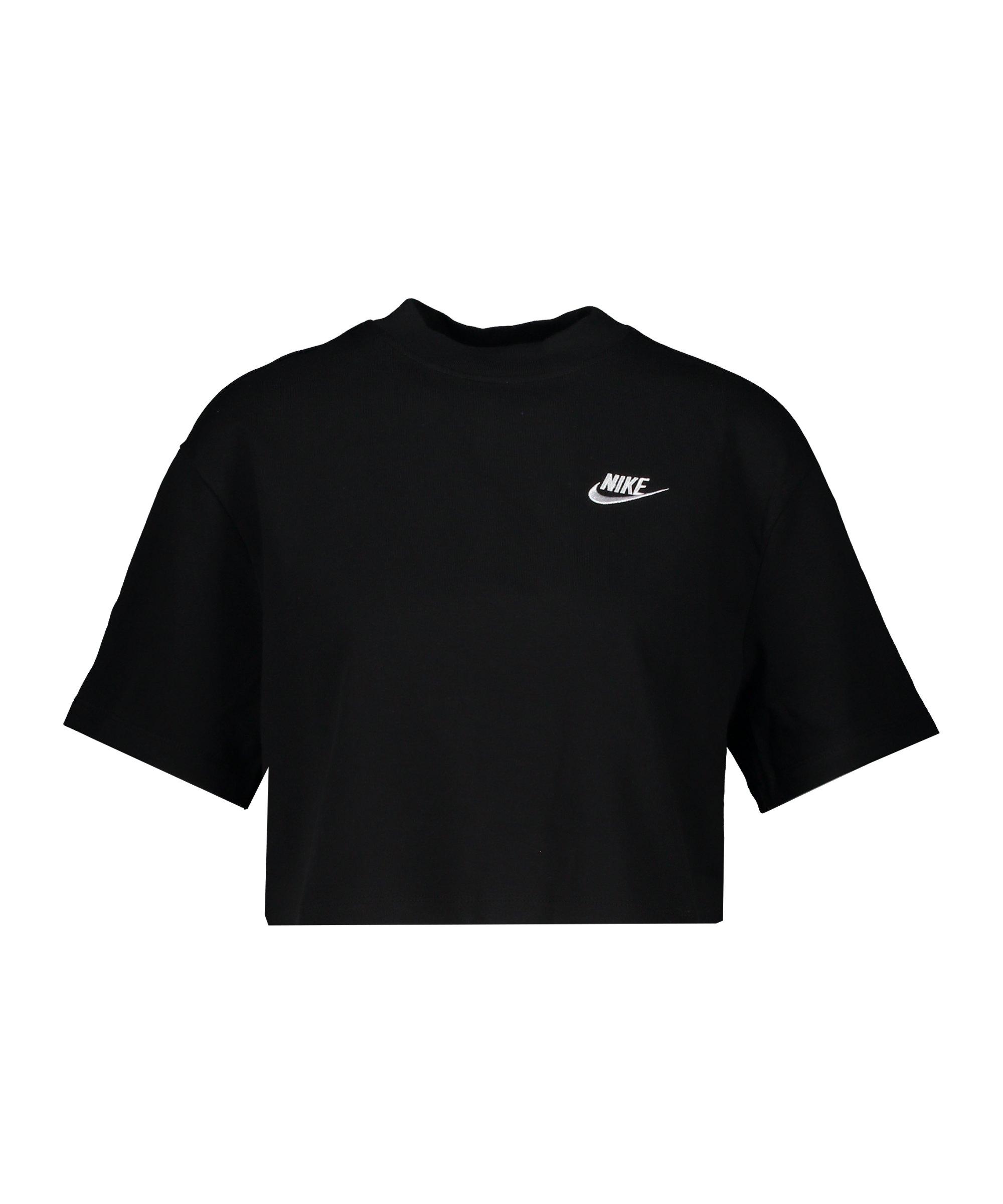 Nike Jersey Top Damen Schwarz Weiss F011 - schwarz