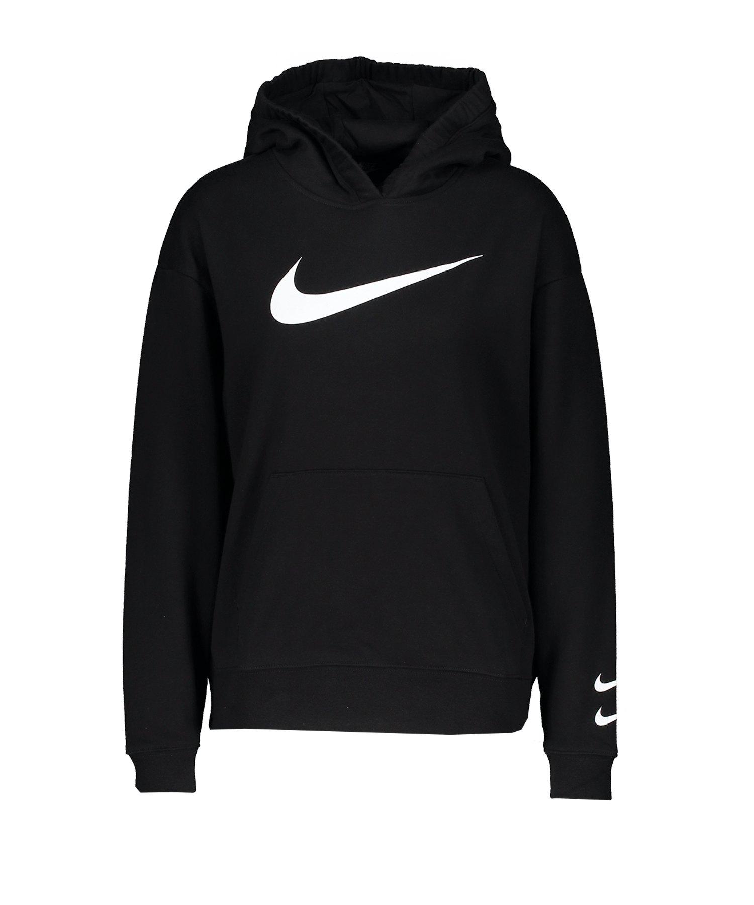 Nike Swoosh Kapuzensweatshirt Damen Schwarz F010 - schwarz
