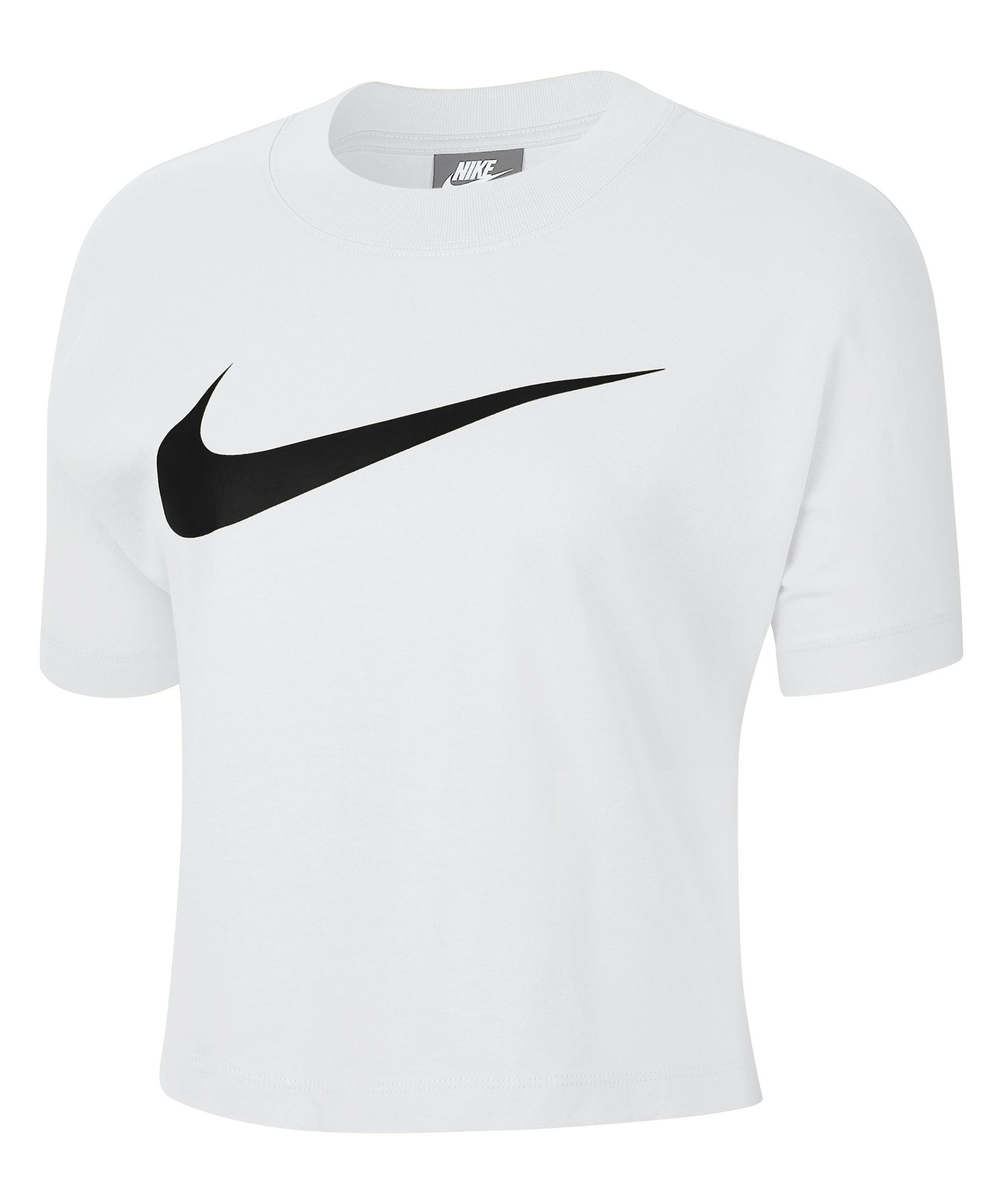 Nike Swoosh T-Shirt Damen Weiss F100 - weiss