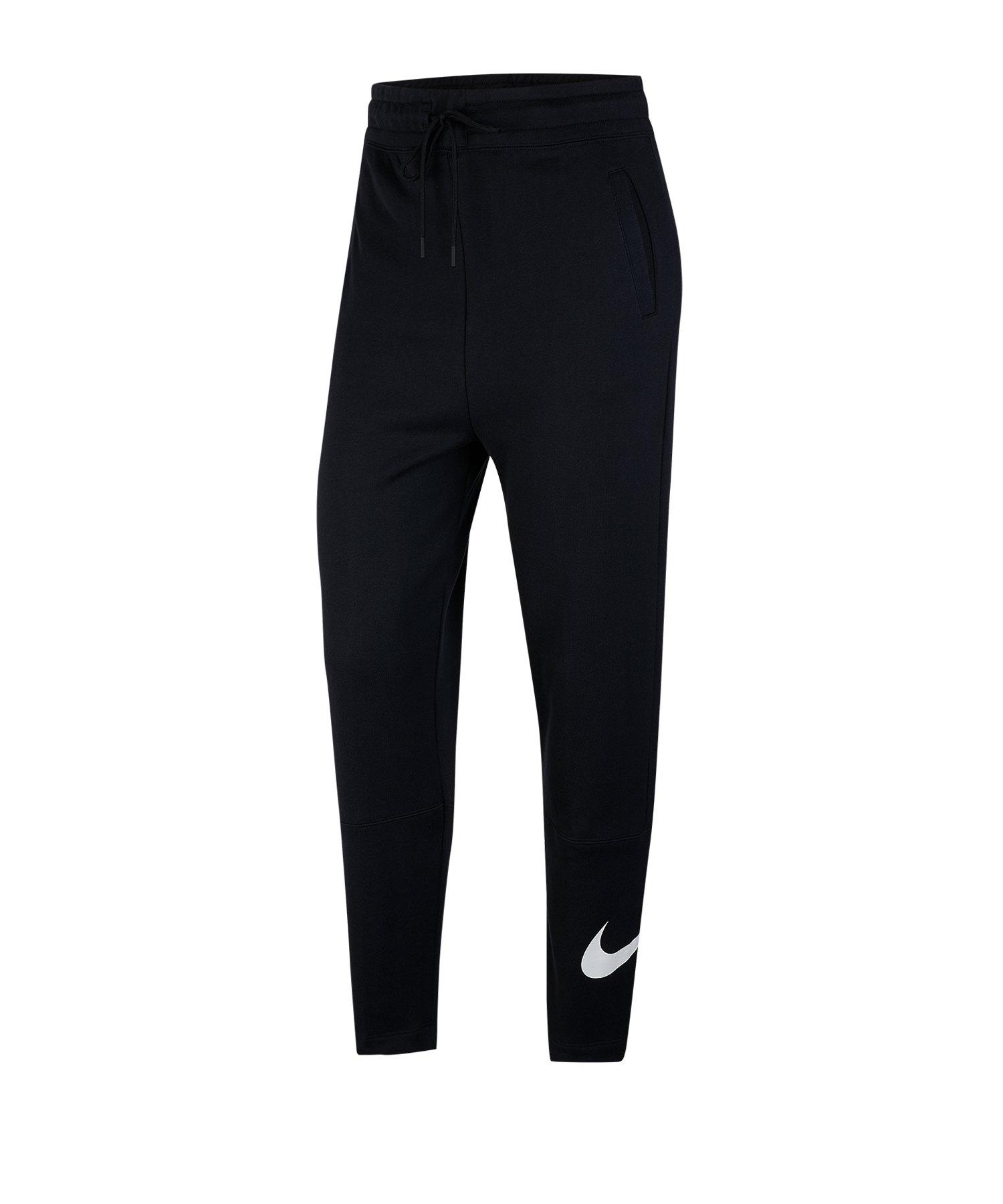Nike Swoosh Jogginghose Damen Schwarz F010 - schwarz