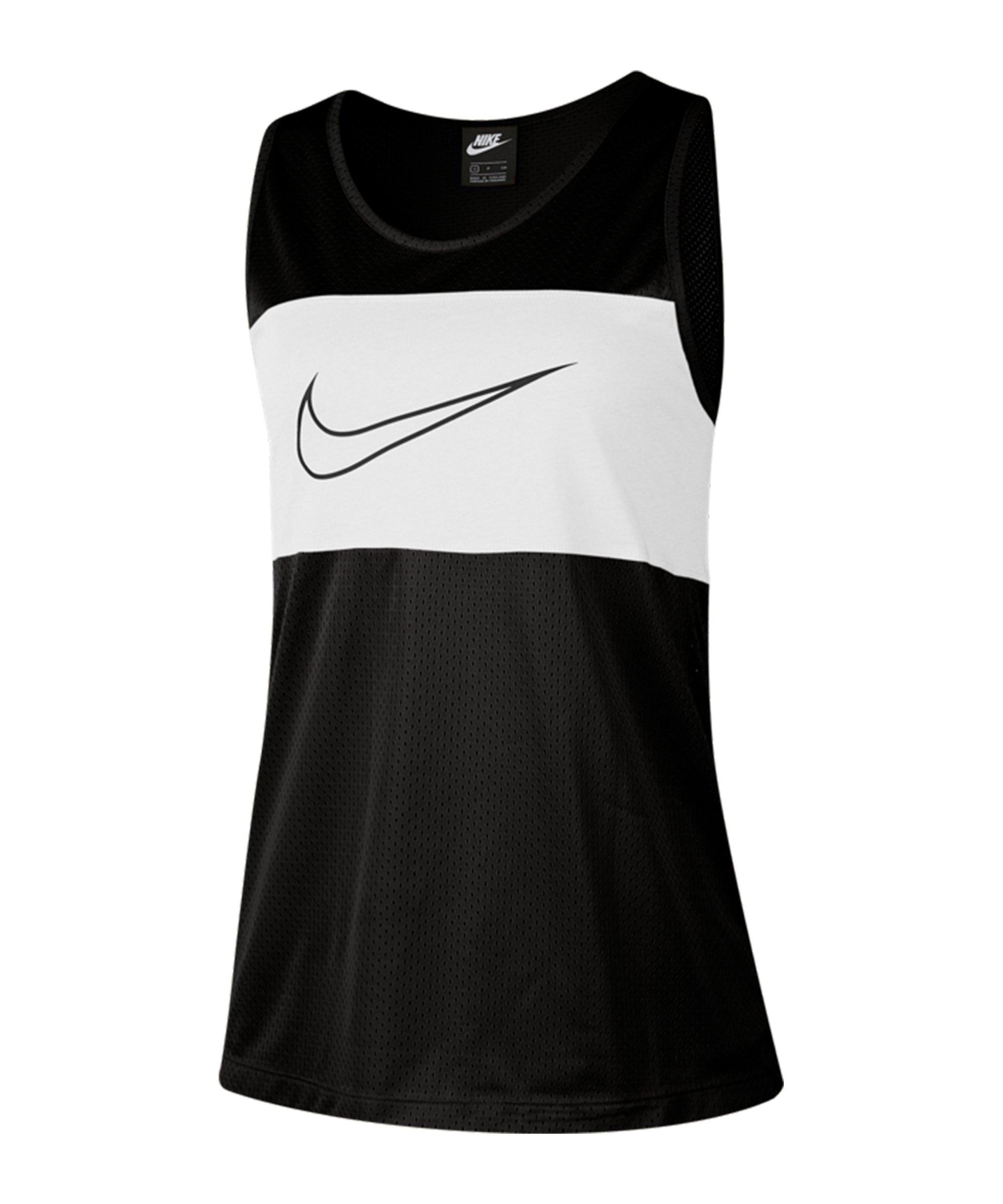 Nike Mesh Tanktop Damen Schwarz F010 - schwarz