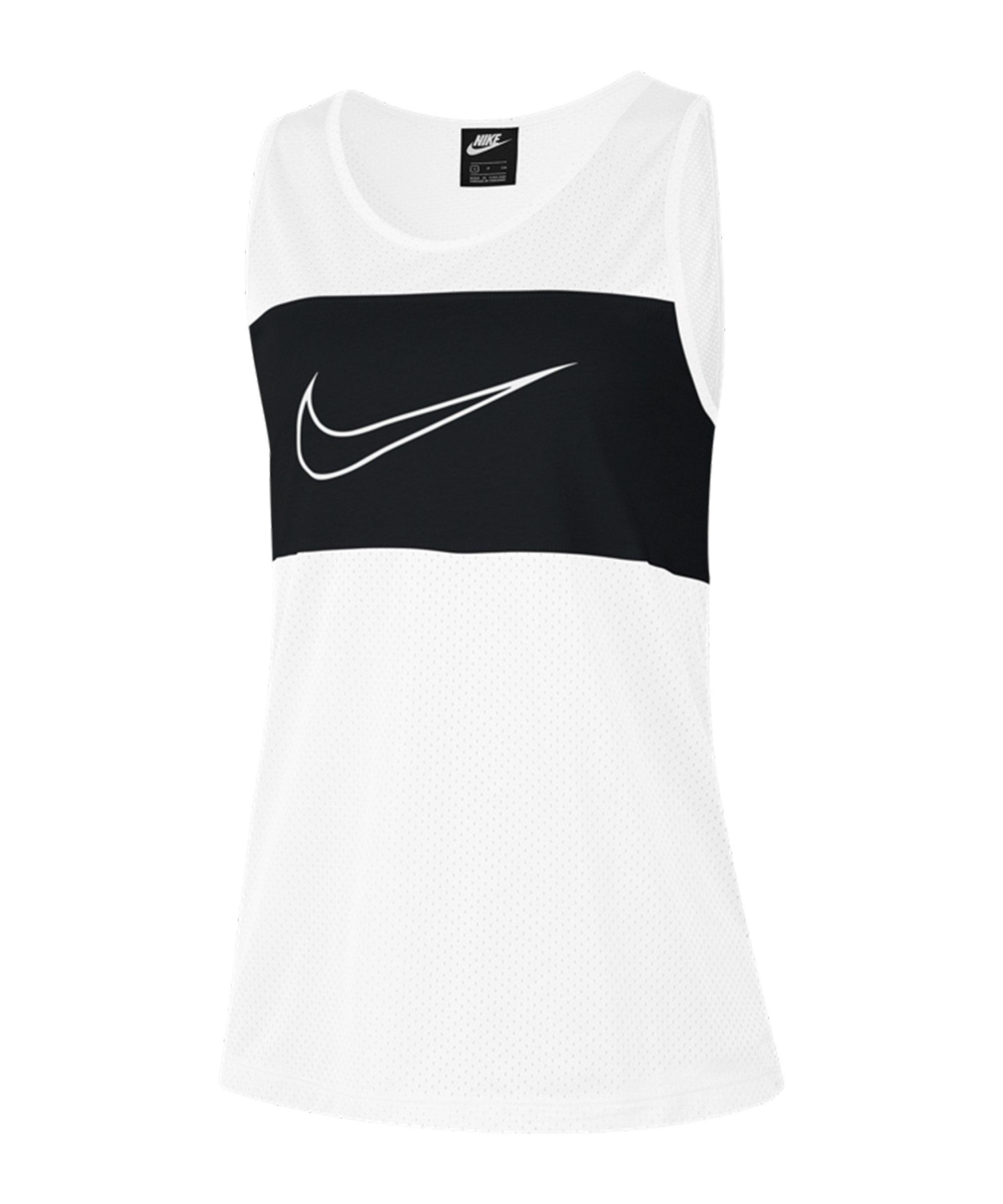 Nike Mesh Tanktop Damen Weiss F100 - weiss