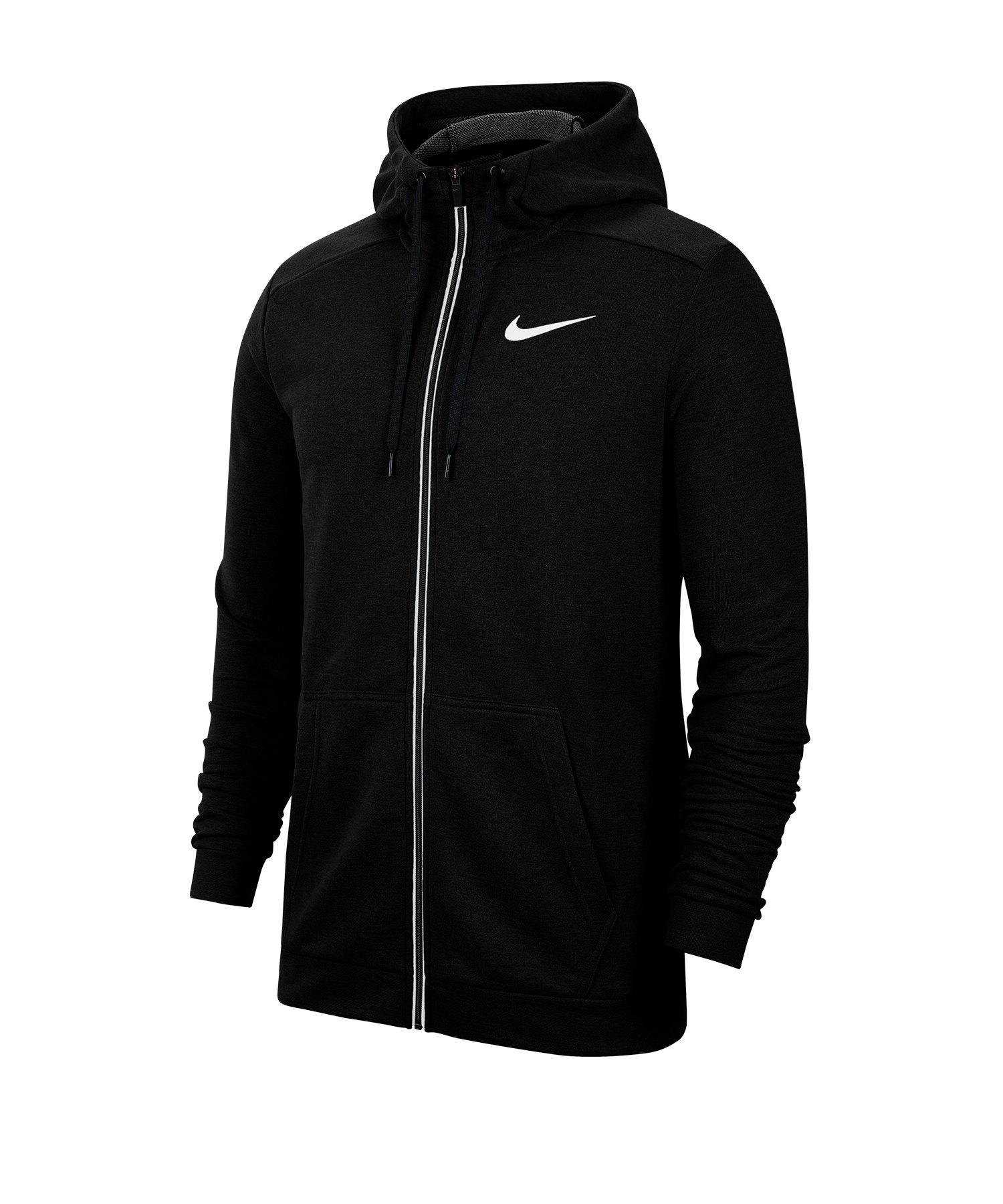 Nike Dri-FIT Kapuzenjacke Schwarz F010 - schwarz