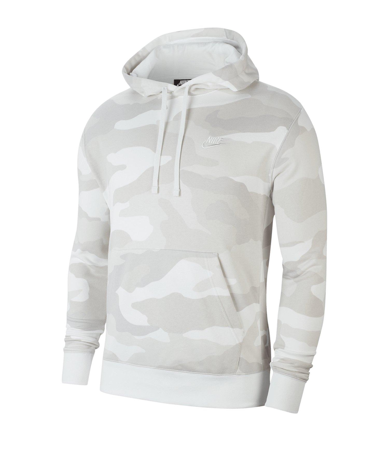 Nike Club Camo Kapuzensweatshirt Beige F072 - beige