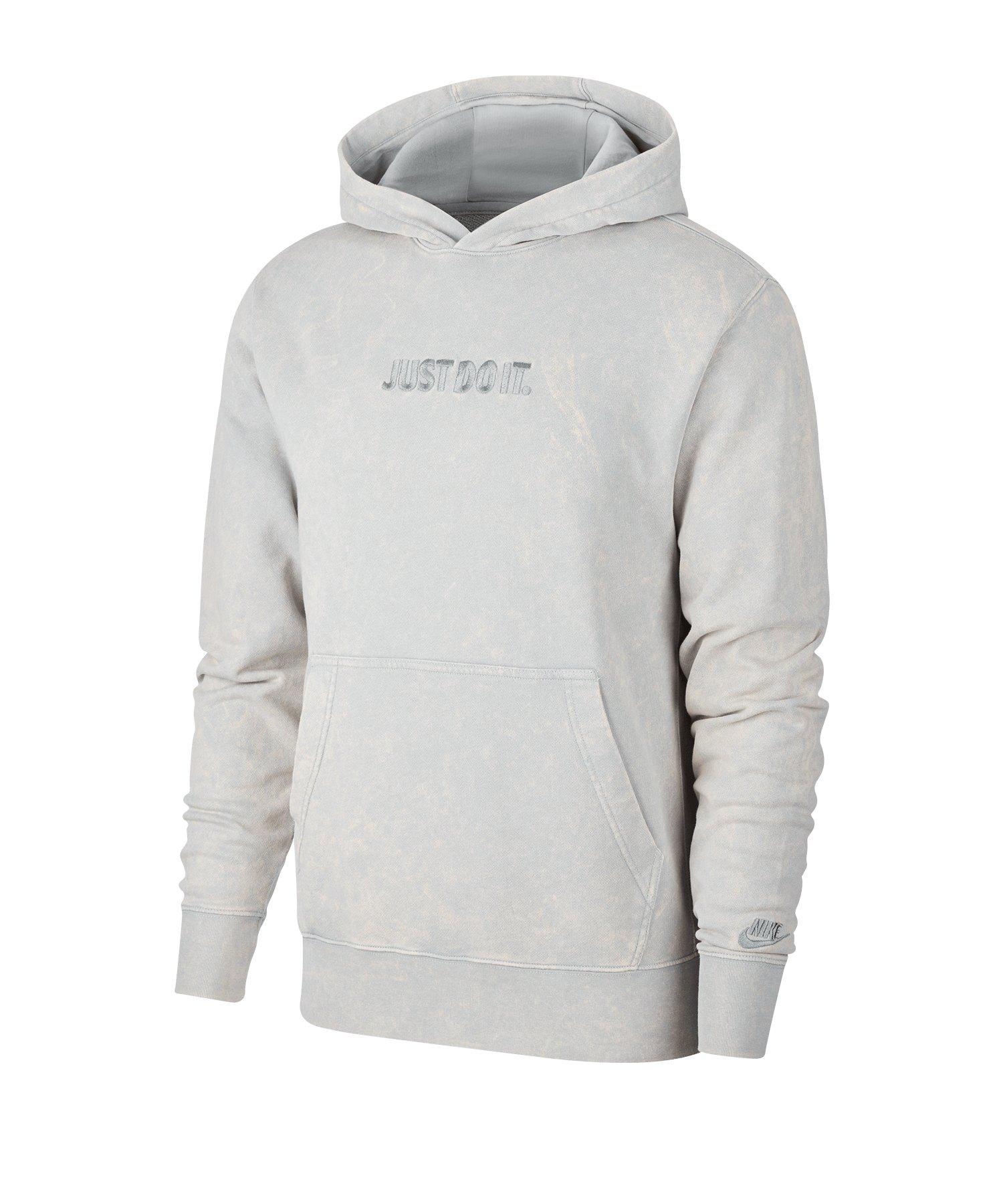 Nike JDI Wash Kapuzensweatshirt Grau F077 - grau