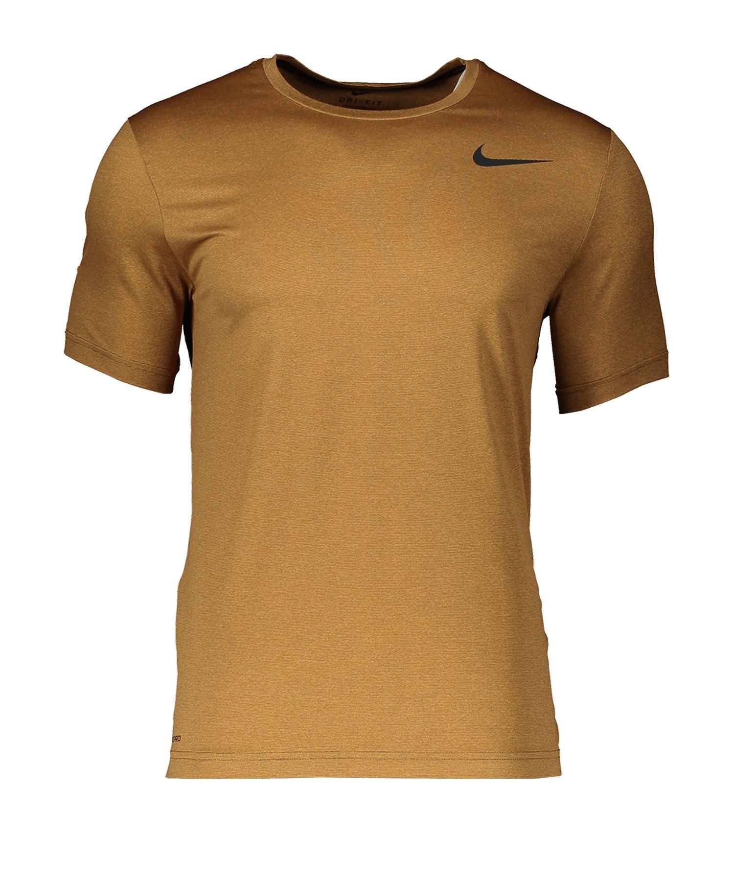 Nike Pro Shirt Shortsleeve Braun F325 - braun