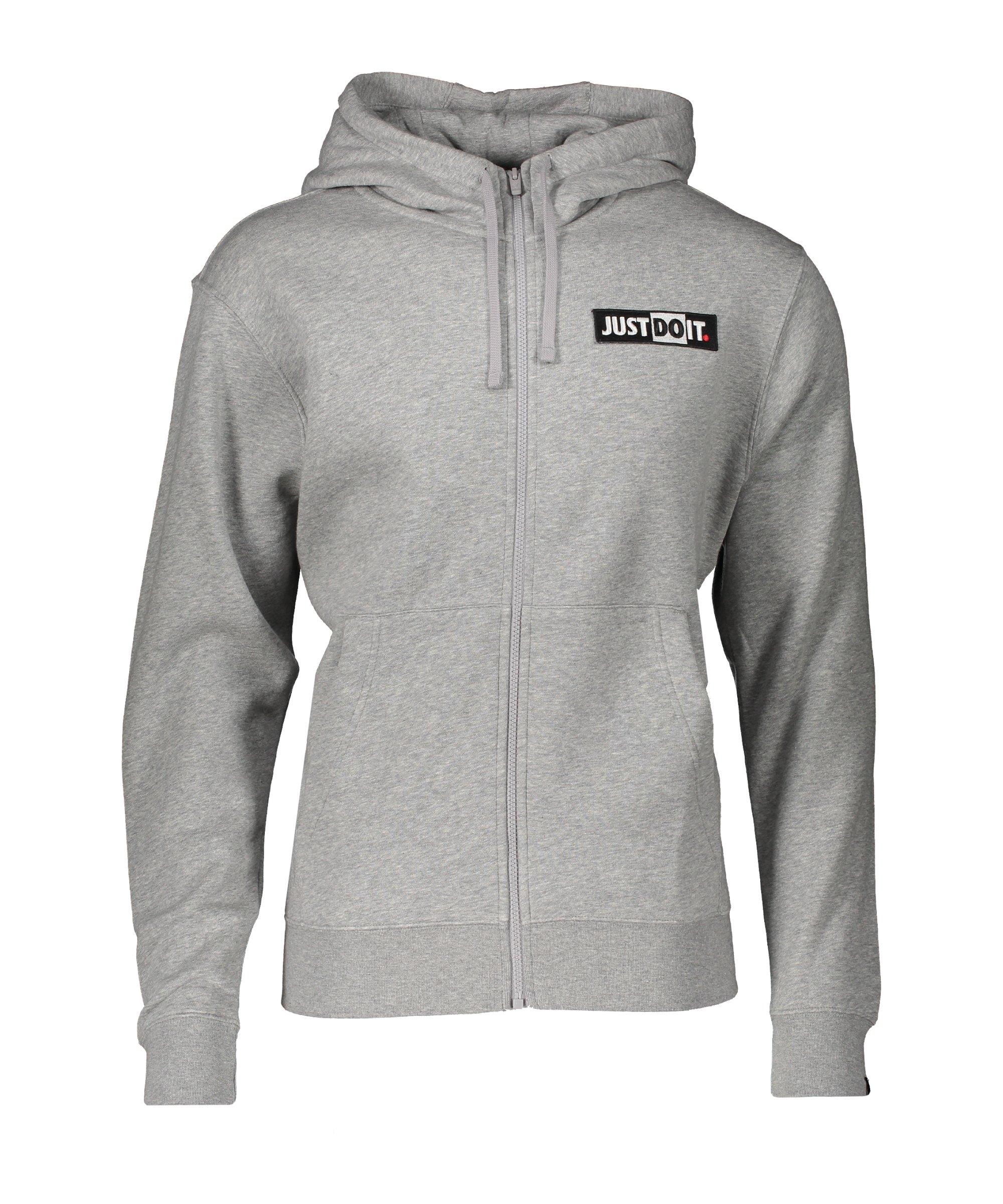 Nike Just Do It Kapuzenjacke Grau F063 - grau