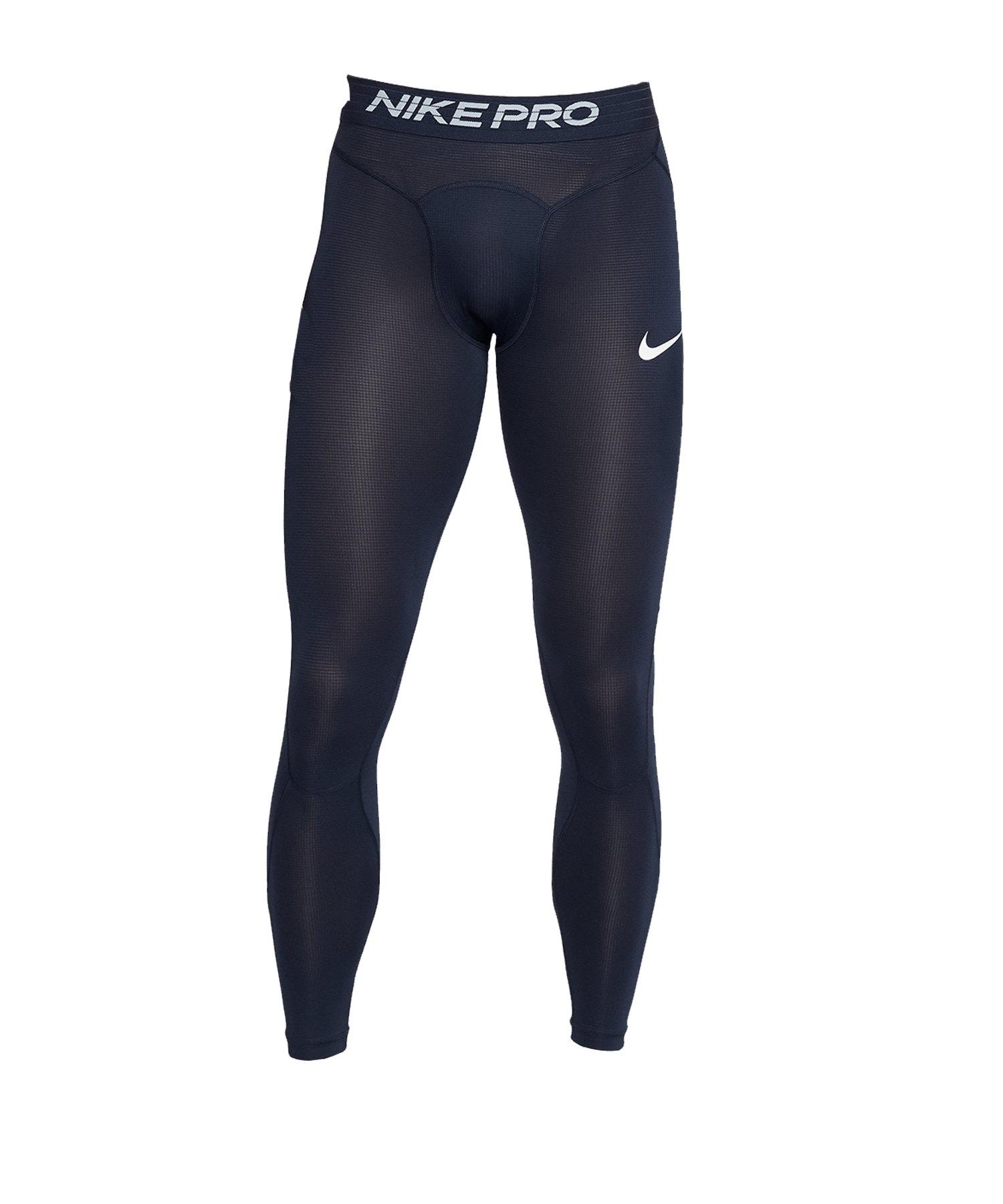 Nike Pro Breathe Tights Hose lang Blau F452 - blau