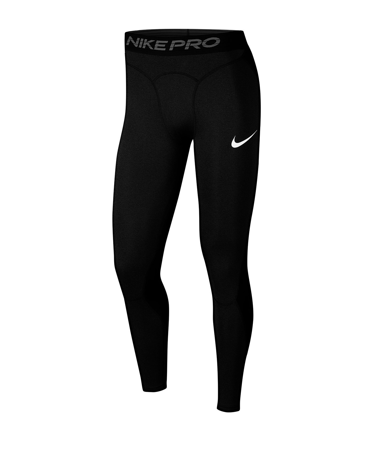 Nike Pro Breathe Tights Hose lang Schwarz F010 - schwarz