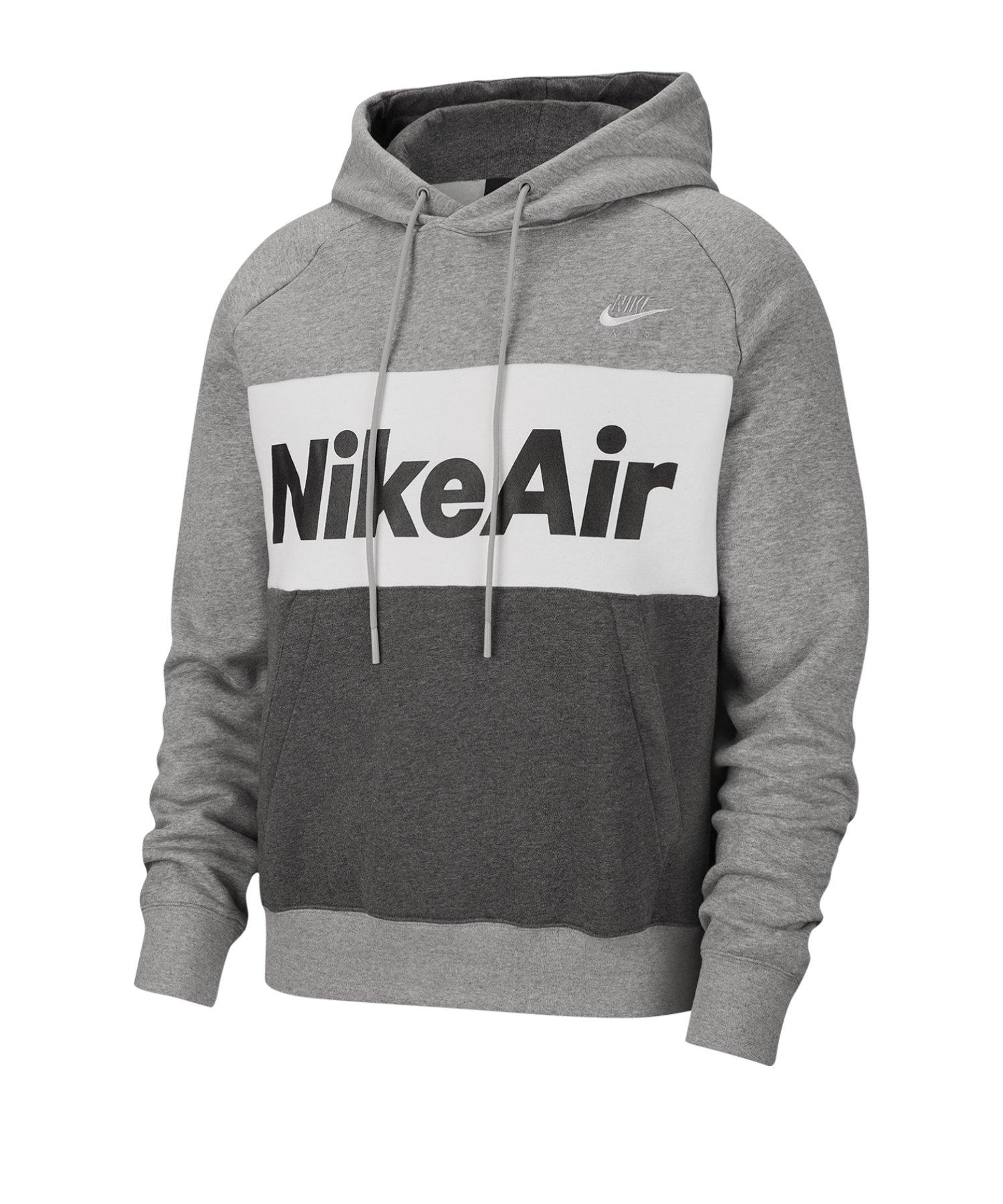 Nike Air Fleece Kapuzensweatshirt Grau F063 - grau