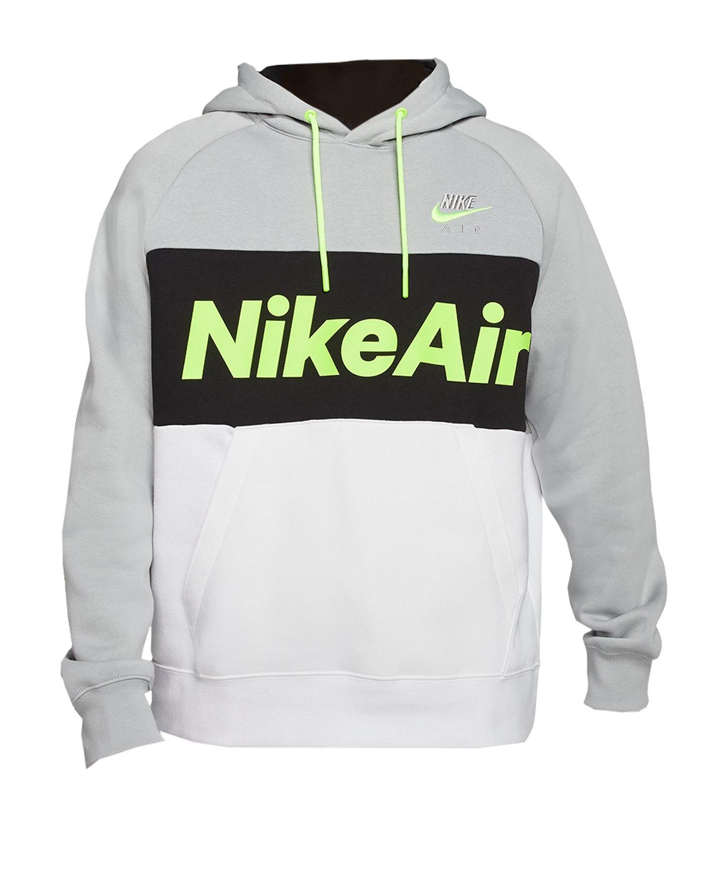 Nike Air Fleece Kapuzensweatshirt Grau F077 - grau