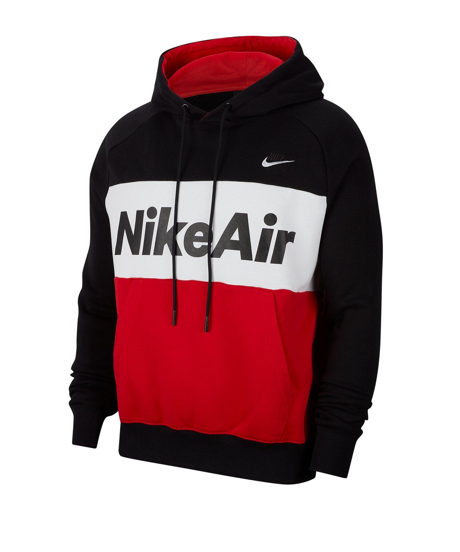 Nike Air Fleece Kapuzensweatshirt Schwarz F011 - schwarz
