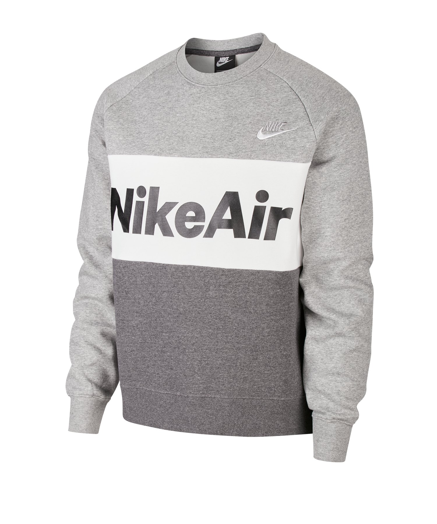 Nike Air Fleece Crew Pullover Grau F063 - grau