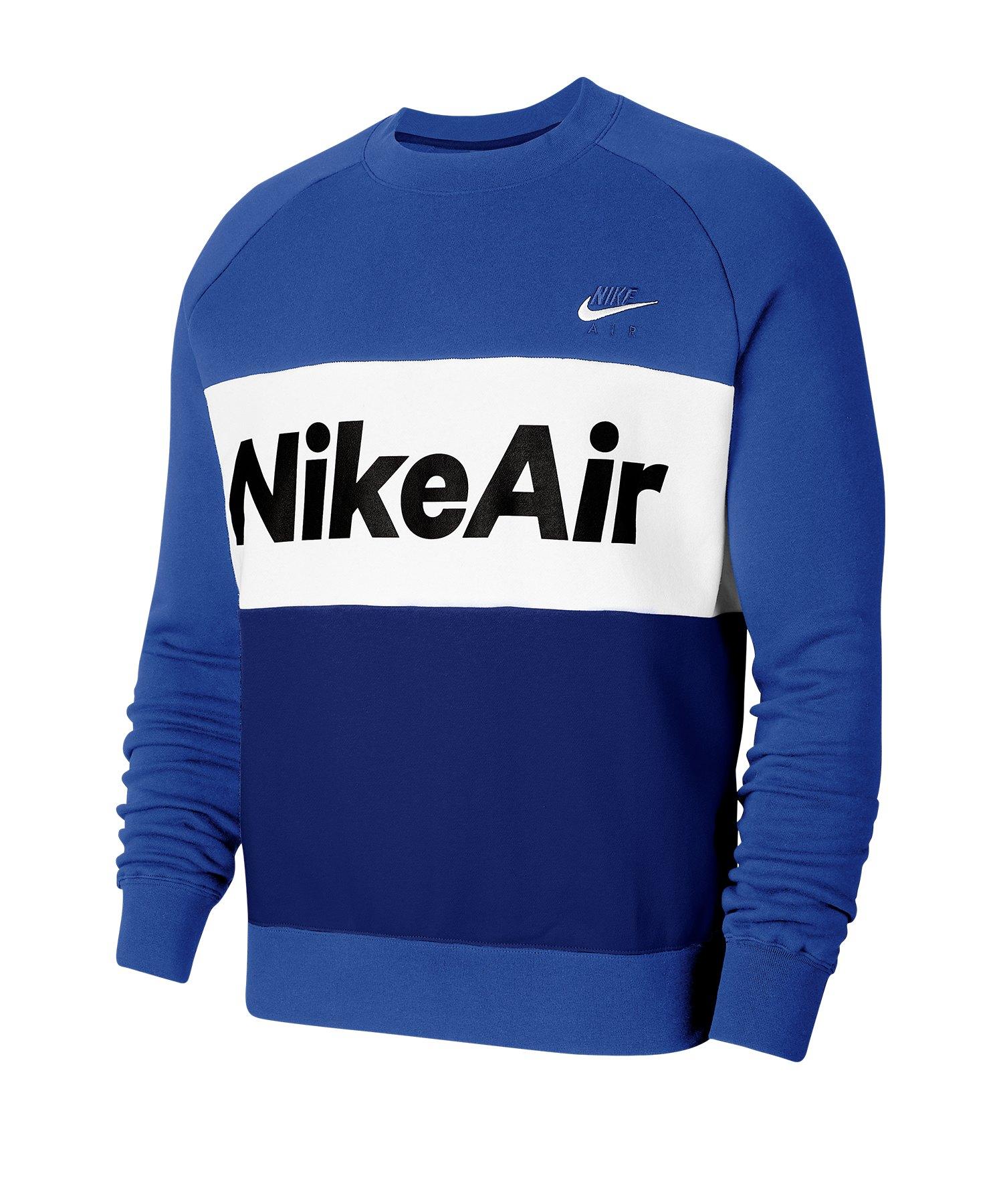 Nike Air Fleece Crew Sweatshirt Blau F480 - blau