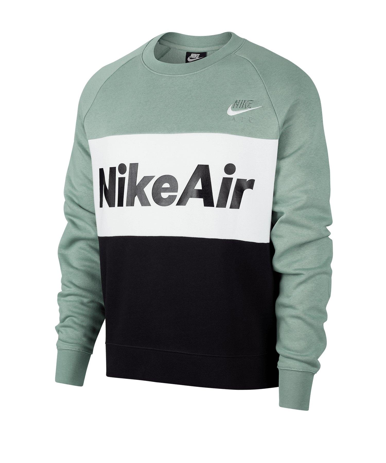 Nike Air Fleece Crew Sweatshirt Silber F352 - silber