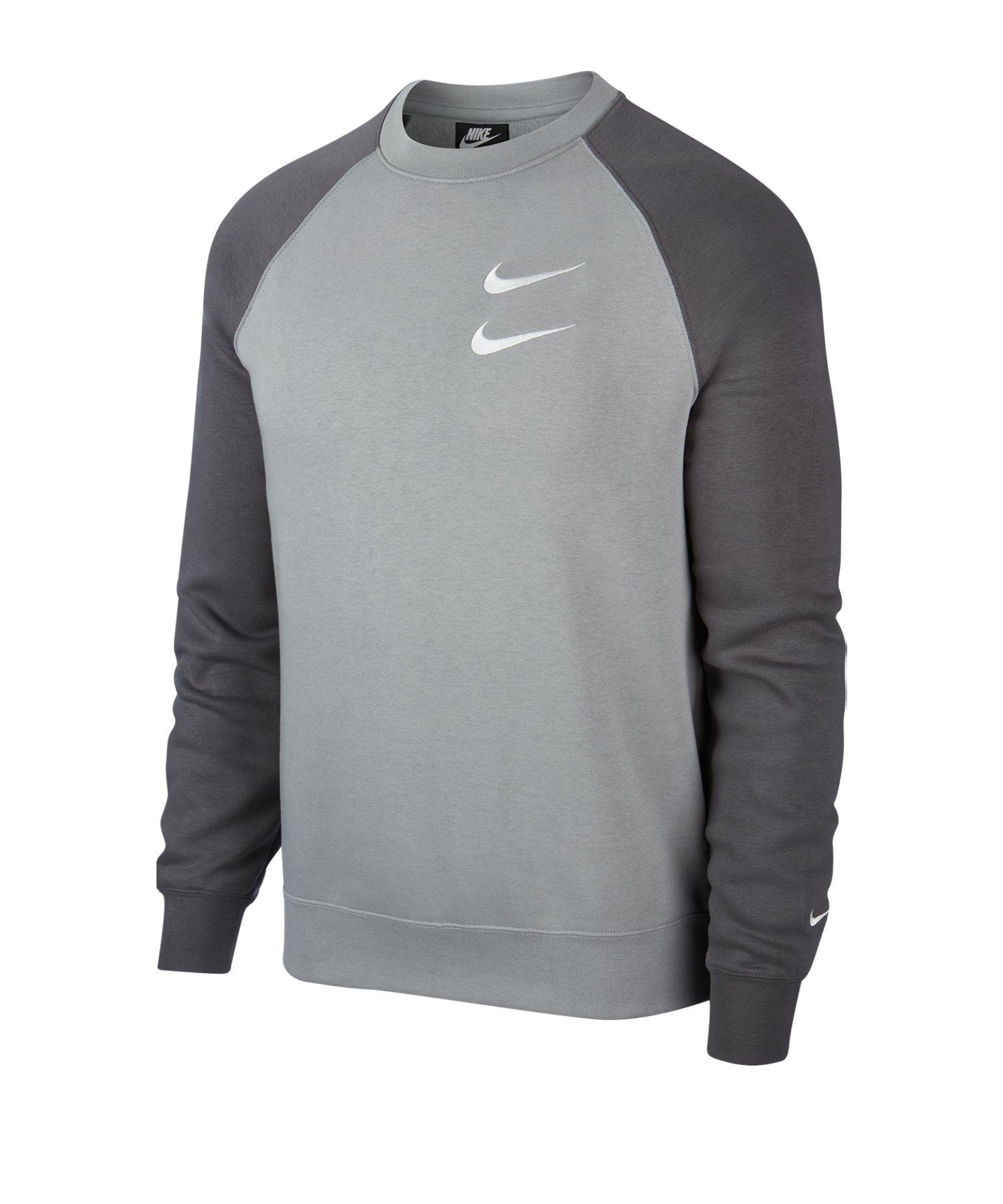 Nike Swoosh Crew Pullover Grau F073 - grau