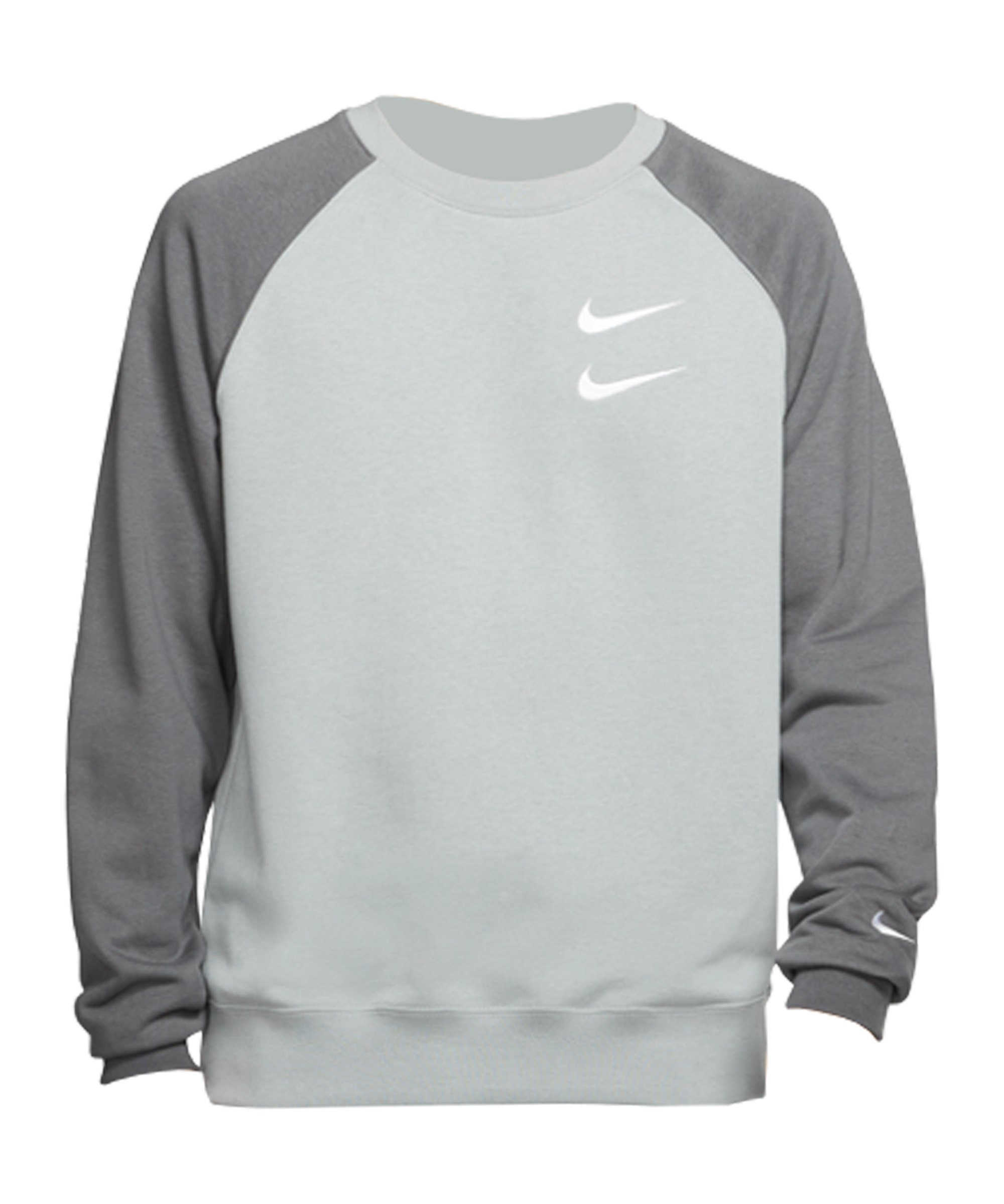 Nike Swoosh French Terry Crew Sweatshirt F073 - grau