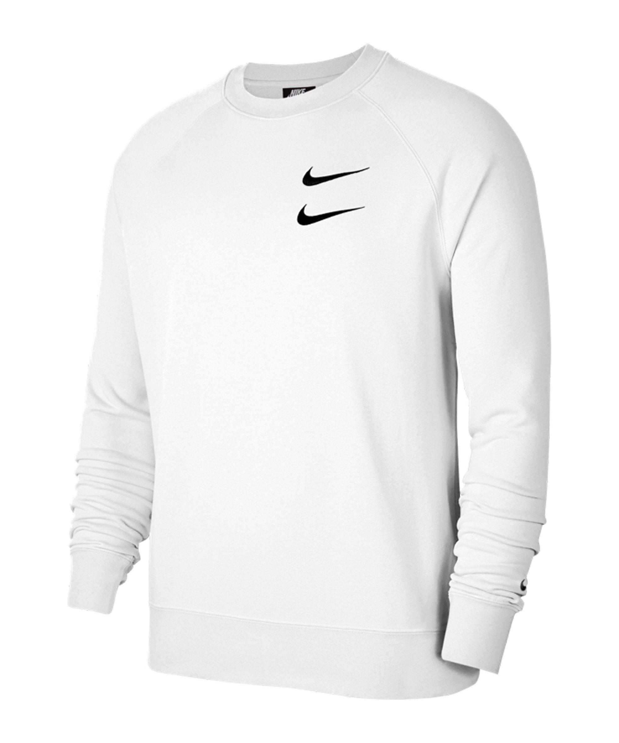 Nike Swoosh French Terry Crew Sweatshirt F101 - weiss