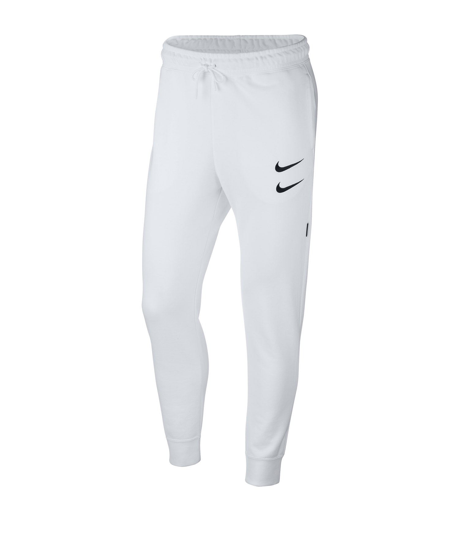 Nike Swoosh French Terry Jogginghose Weiss F100 - weiss